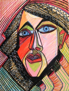 Colorful Surrealist Portrait of a Man in Pastel