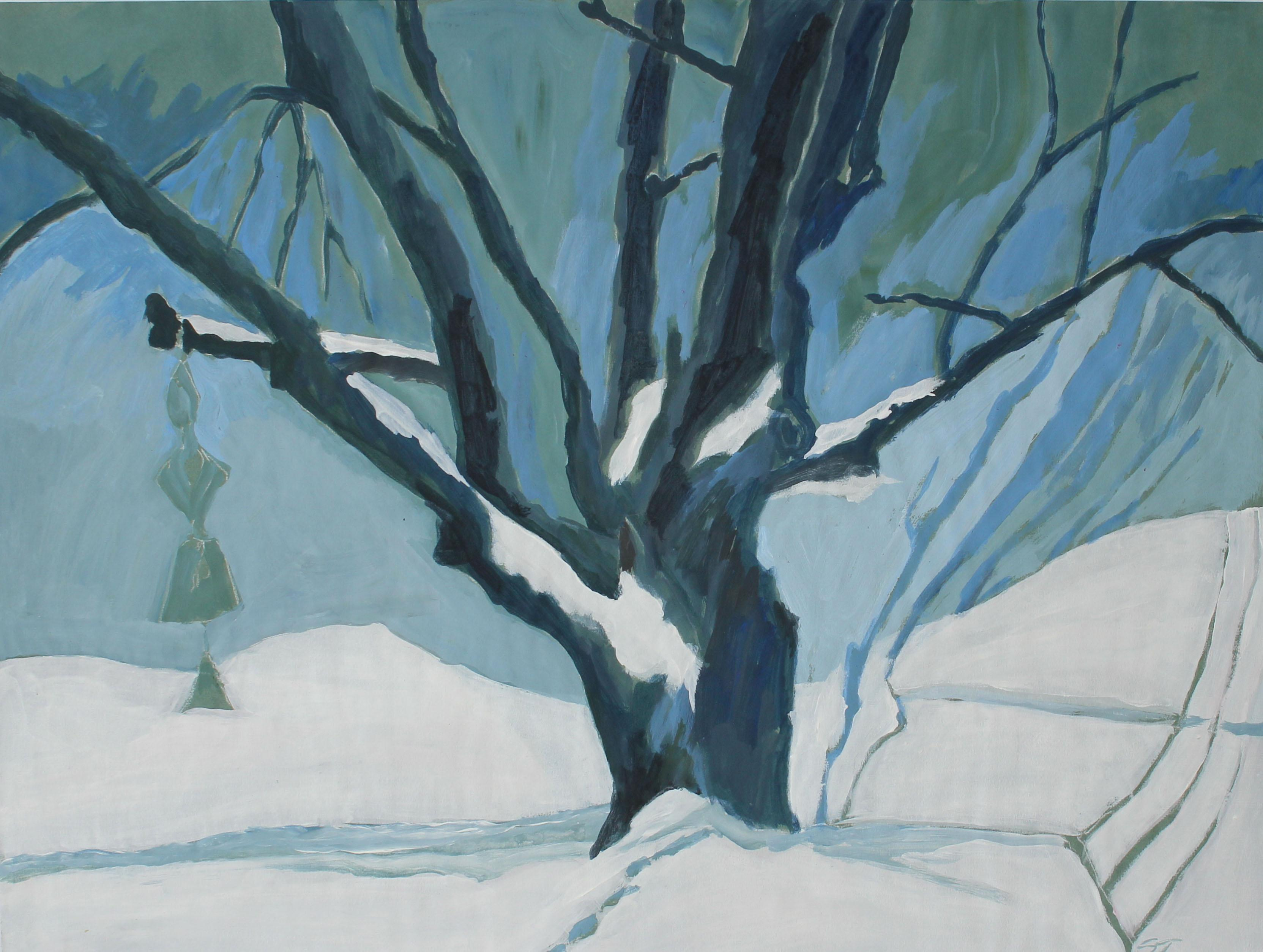 """""""Winter 1988"""" Acrylic Painting on Paper"""