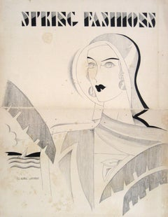 1920's-30's Iconic Fashion Advertisement in Ink