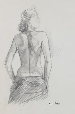 Late 20th Century Nude Female Drawing
