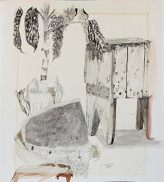 """The Milk Stool"" Still Life Drawing in Ink and Watercolor"