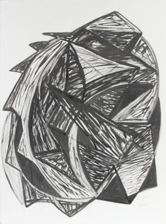 """Talisman"", 1998, Expressionist Abstract in Ink and Charcoal"