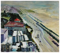 Bay Area Cityscape/ Seascape in Oil on Stretched Canvas, 1996 by John Nicolini