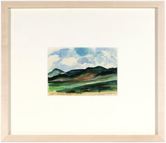 Contemporary Watercolor of a Cabo, San Lucas, Baja Mountain Landscape, 1978
