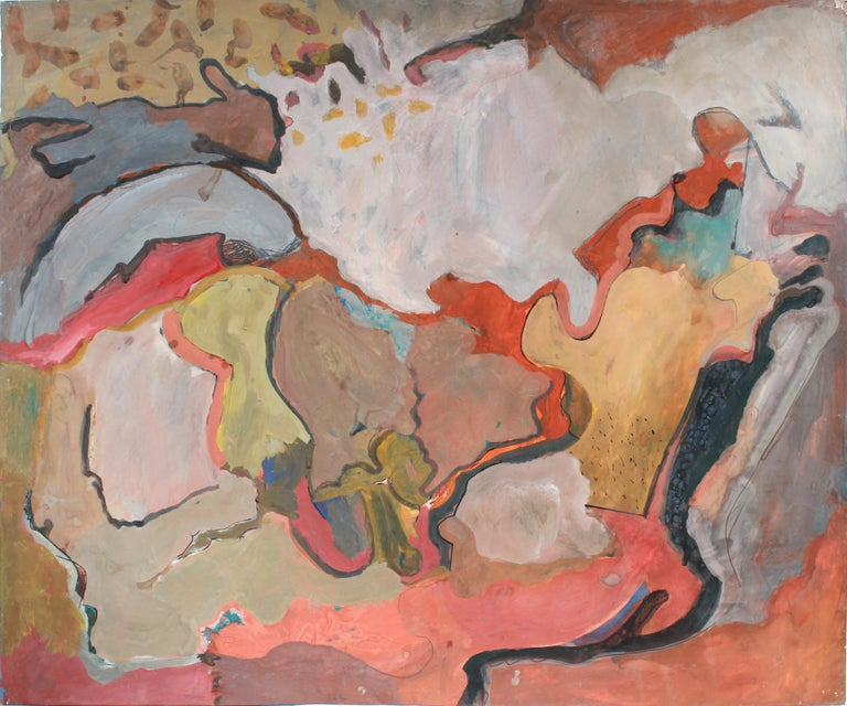 Jack Freeman Abstract Painting - Colorful Large-Scale Abstract Expressionist Painting in Ink, Graphite & Acrylic