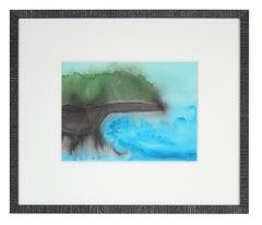 """Oleana Point-III"", Puna Peninsula, Big Island Hawaii, Watercolor and Gouache"