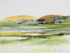 West Marin, California Landscape in Watercolor, Late 20th Century