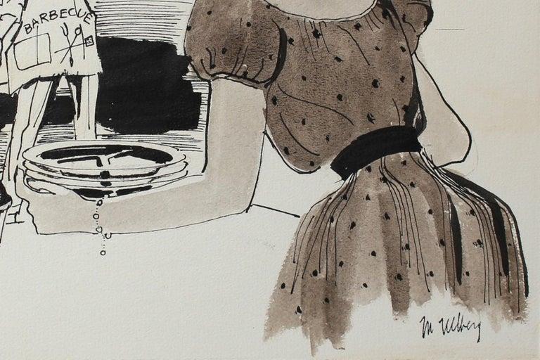 Summertime Barbeque Ink 1946-54 - Art by Marjorie Ullberg