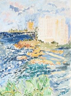 """San Juan"" Pastel Scene, 1966"