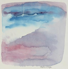 """""""Fog Over San Francisco, CA"""" Late 20th - Early 21st Century Watercolor"""