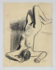 Reclining Female Nude 1920s-1930s Pastel