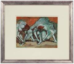 """""""Apres of Degas, Ballerina"""" 1970s Acrylic"""