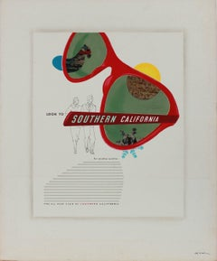 """""""Look to Southern California"""" 1950-60s Mixed Media and Collage"""