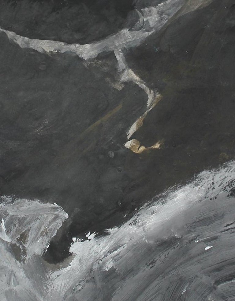 Stormy Monochromatic Abstract Gouache and Charcoal - Art by Jack Freeman