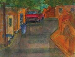 """Brea Canyon"" 2008 Acrylic & Graphite"
