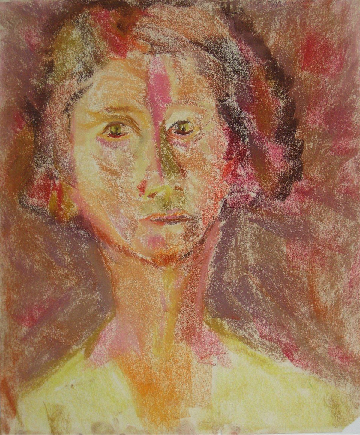Warm Tone Portrait in Pastel 1950-60s