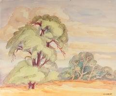 Eucalyptus Tree Watercolor Mid Century California