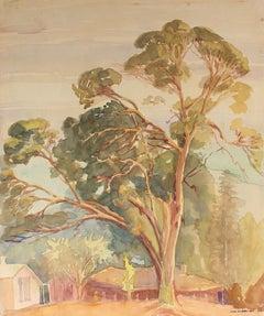 Eucalyptus Watercolor Mid Century California