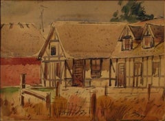 """""""Solvang House"""" 1930-60s, Ink & Watercolor on Paper"""