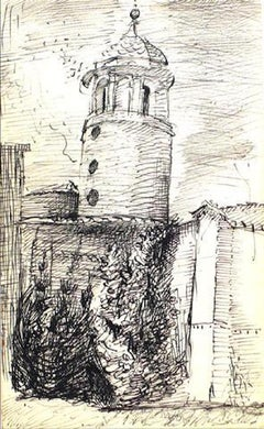 Modernist Tower Sketch 1940-60s