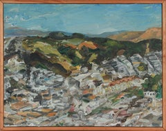 """Near Glen Park"" Expressionist San Francisco Scene 2001 Oil Painting"