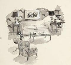 American Modern Drawings and Watercolor Paintings