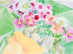 """""""Floral Messengers of Autumn"""" 2000 Bright Watercolor"""
