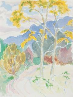 """Autumn in Garland Park"" 1999 Pastel Watercolor"