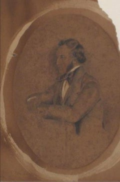 Seated Gentleman Portrait Study Graphite, Early-Mid 1800s