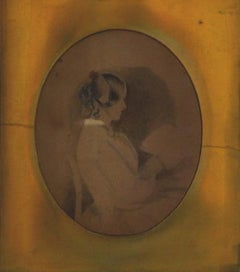Woman Reading Graphite Study Early-Mid 1800s