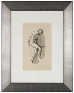 Modernist Female Nude 1920-40s Ink