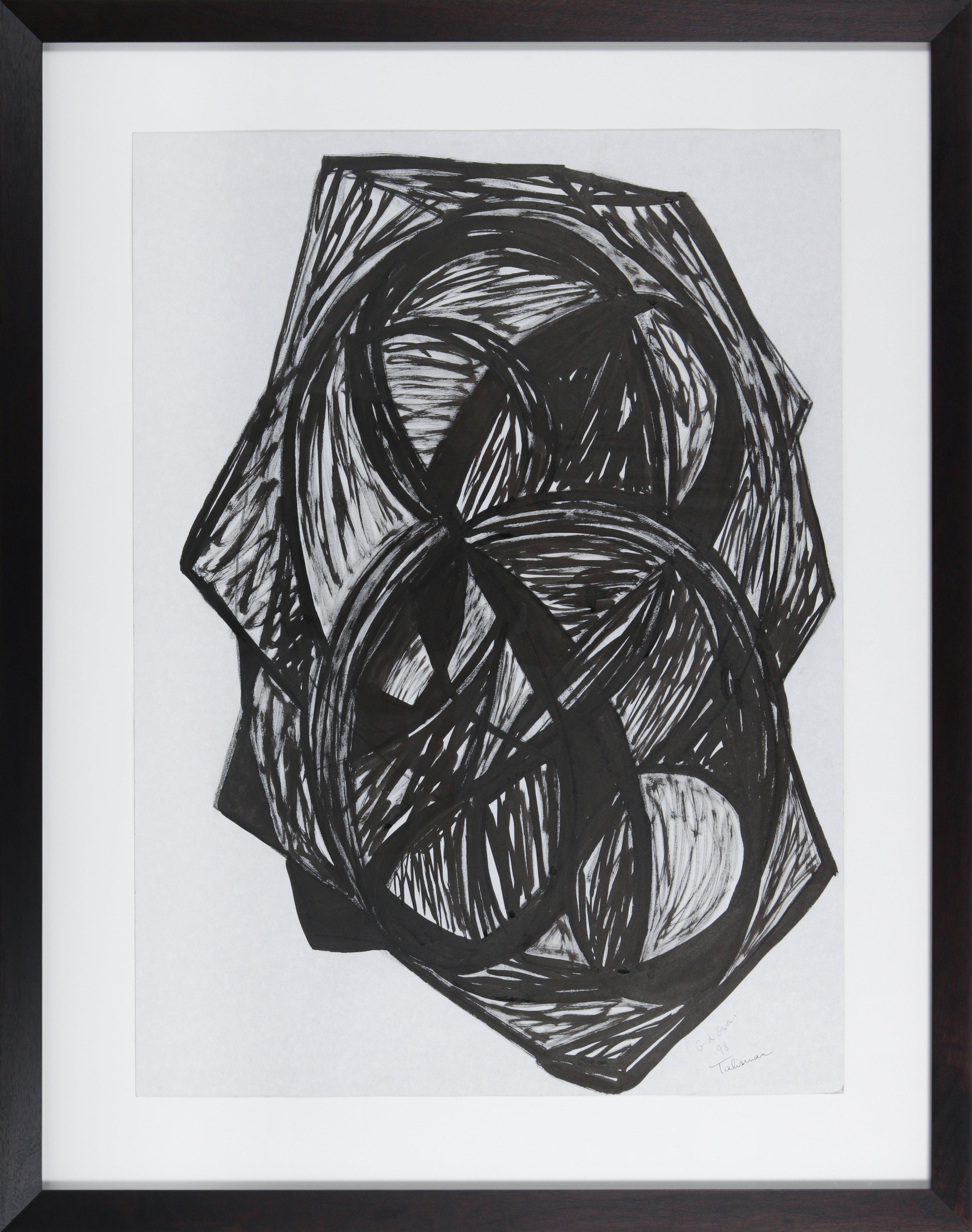 """""""Talisman"""" 1998 Ink on Paper Abstract Drawing"""