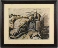 Dancer in a Landscape - 20th Century, Work on paper by John Craxton