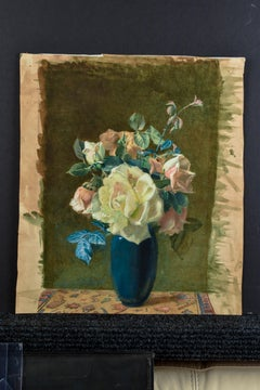 """Unknown, """"Floral"""" Watercolor 15 x 11  American 19th century"""