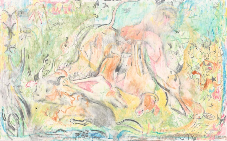 Untitled (The Calls of the Hunting Hom) - Abstract Art by Cecily Brown