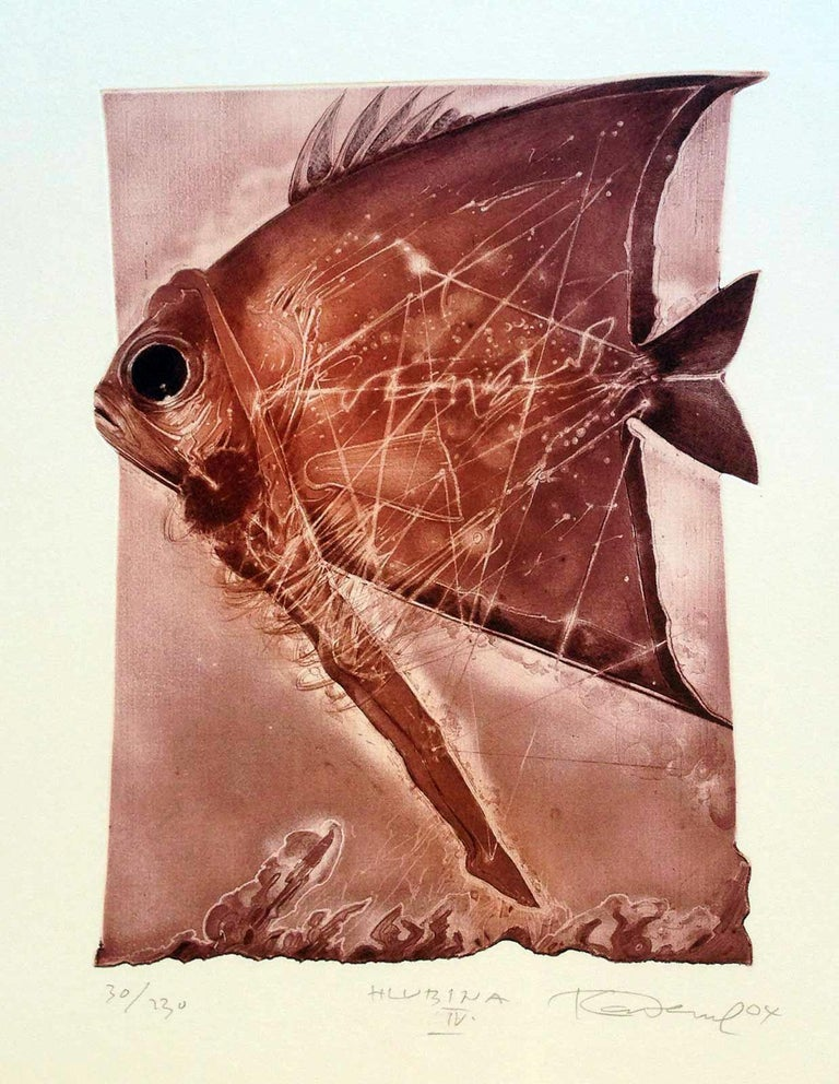 Karel Demel Animal Print - Hlubina IV