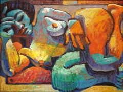 "Wayne Forte, ""A Multicolorida"", Oil paint on canvas"