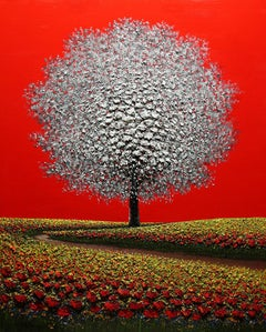 """Mario Jung, """"Love is Red"""", Oil on Canvas, Original, 2020"""