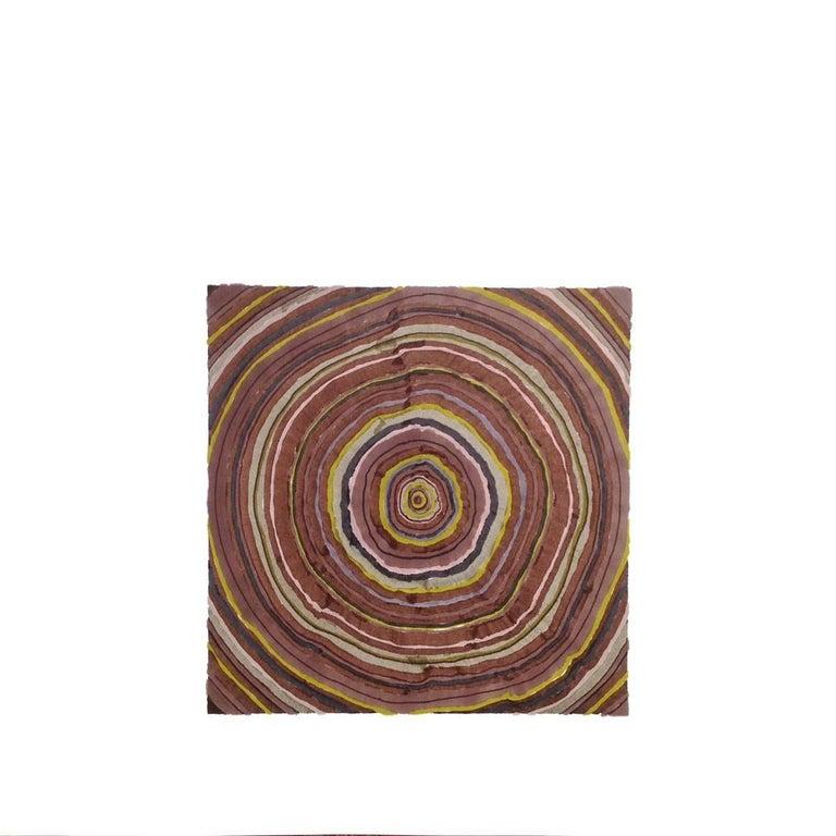46 Years (Tree Rings Series) - Beige Landscape Art by Steven L. Anderson