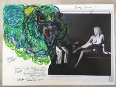 Simone Gad 'Marilyn Monroe Apres Colon Cancer Avec Perroquette Verte'