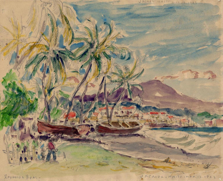 Reynolds Beal Figurative Art - Jacmel, Haiti, Mar. 13, 1923.