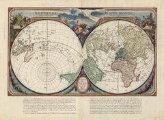 Nouvelle Mappe Monde, dediee au progres de nos connoissances.