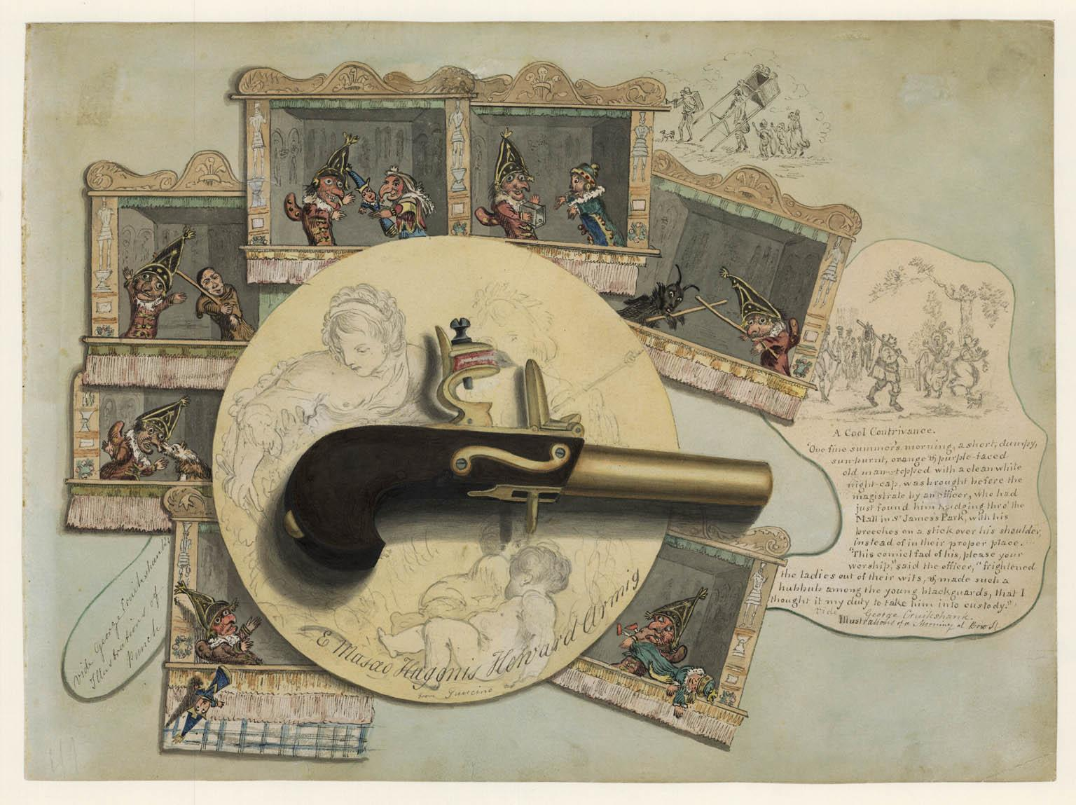 Trompe l'oeil [Punch and Judy].