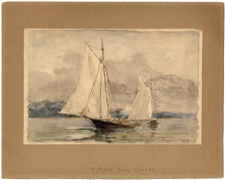 Reynolds Beal Landscape Art - Oyster Bay Sloops.