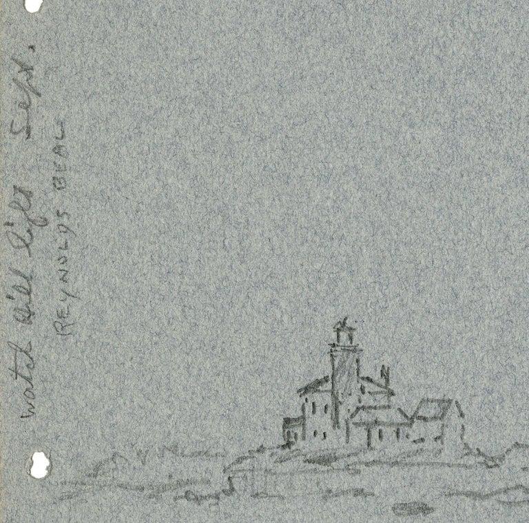 Watch Hill Light. Sept. 19, 1940. - Art by Reynolds Beal