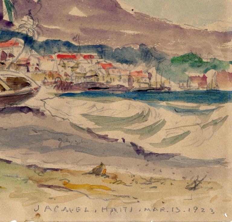 Jacmel, Haiti, Mar. 13, 1923. - Brown Figurative Art by Reynolds Beal