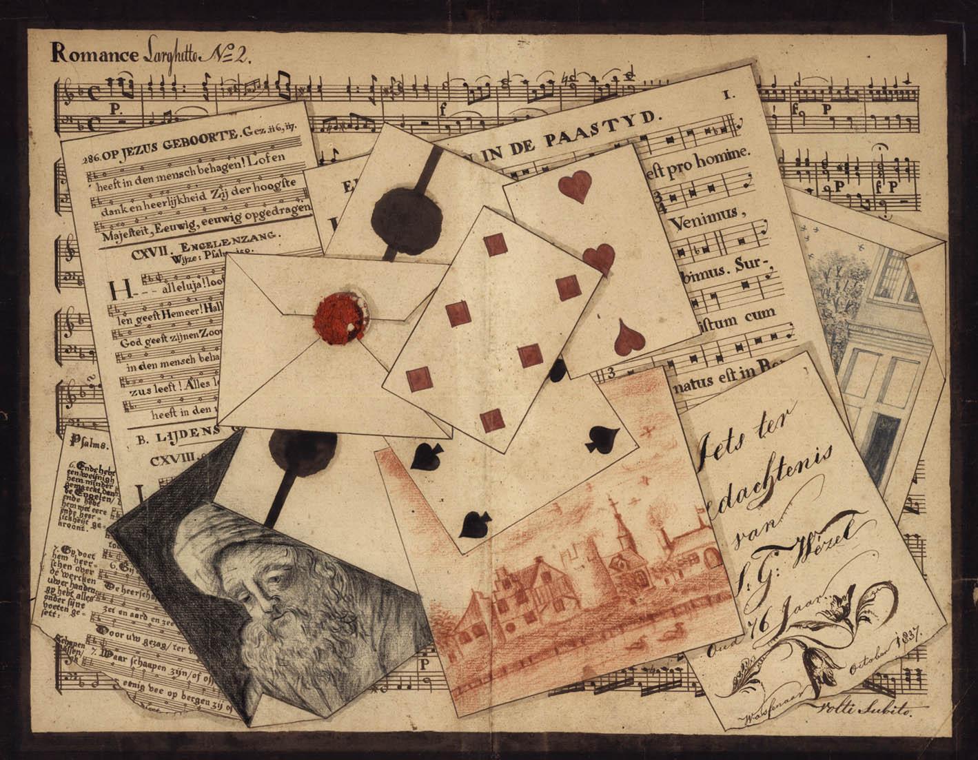 Trompe L'oeil [untitled]. Homage... Ter Nagedachtenis van S. G. Wezel oud 76 Jar