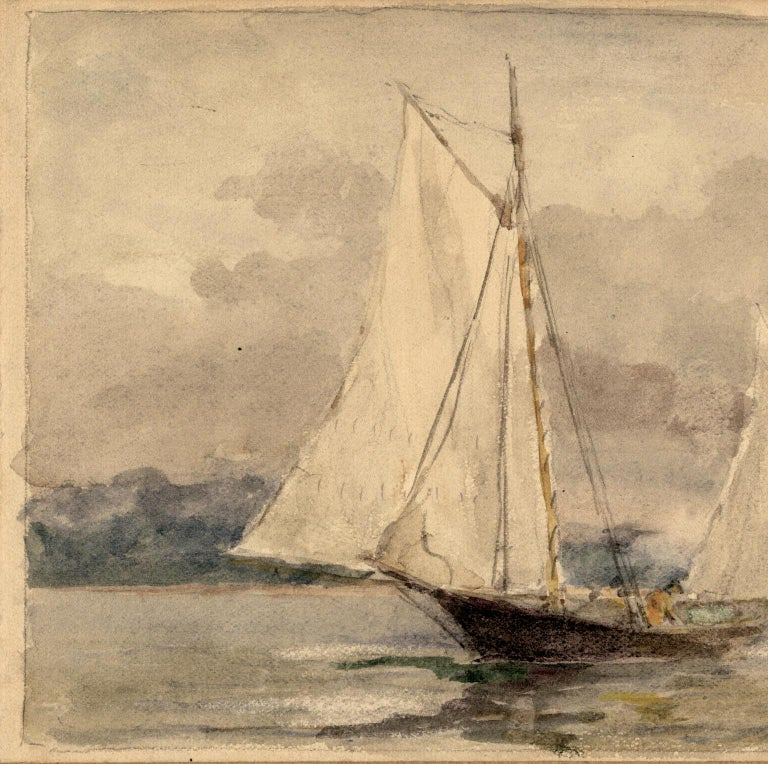 Oyster Bay Sloops. - Art by Reynolds Beal