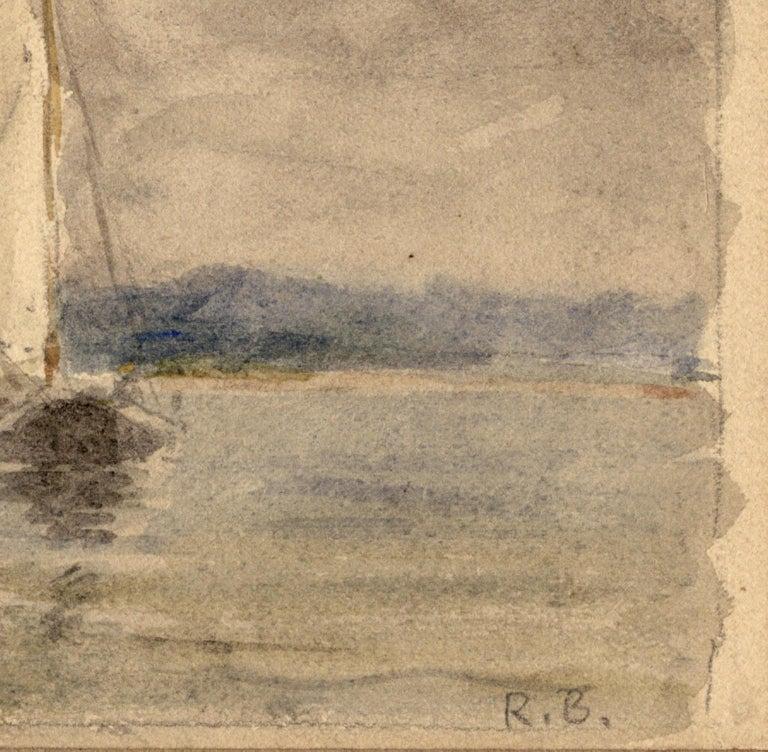 Oyster Bay Sloops. - Brown Landscape Art by Reynolds Beal