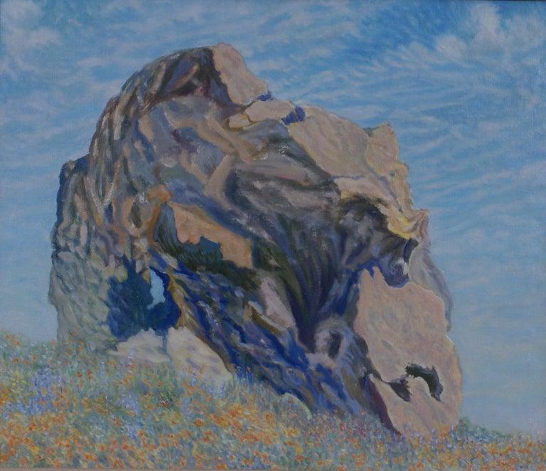 Portrait of a Rock - Painting by Freeman Baldridge